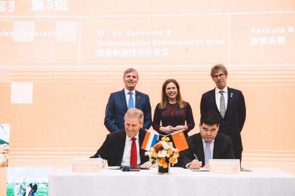 Signing Memorandum of Understanding to establish AgriSpaces China